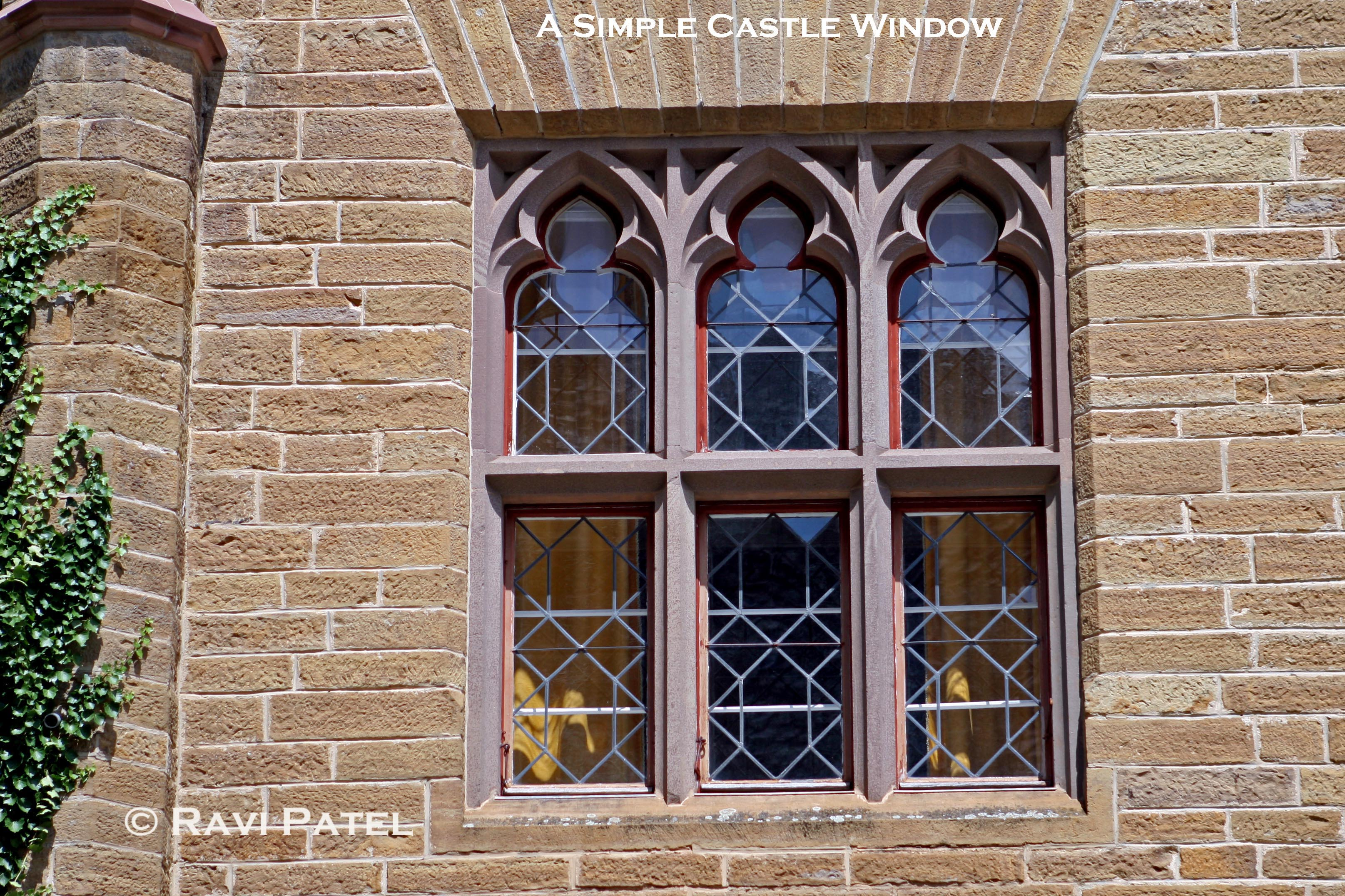 A simple castle window view photos by ravi for Window in german