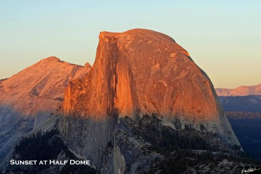 Sunset at Half Dome