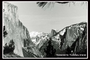 Yosemite Tunnel View in Winter