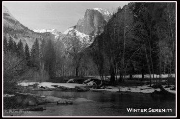 Winter Serenity at Half Dome