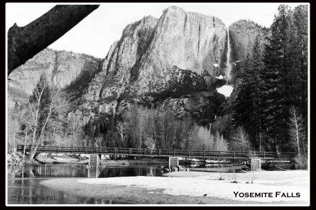 Yosemite Falls in Winter