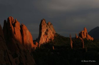 Sunset at the Garden of Gods