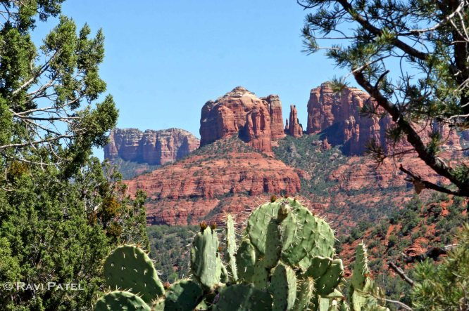 Framing the Red Rocks of Sedona