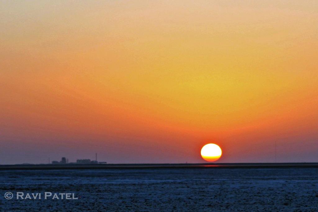 Sun Kissing the Horizon