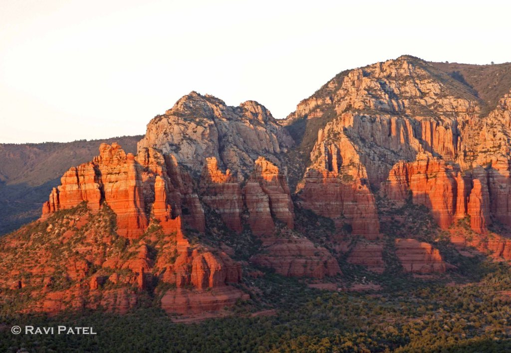 Sunset on Sedona Rocks