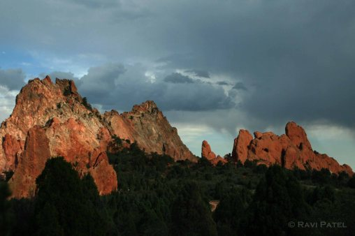 Clouds over the Garden of Gods