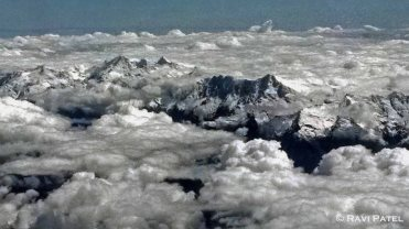 Flying over the Andes