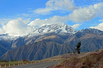 Peru - A Bend in the Road to Ollantaytambo
