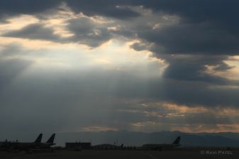 Sunset over the Airport