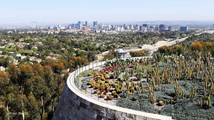 Getty Museum Cacti Garden Vista