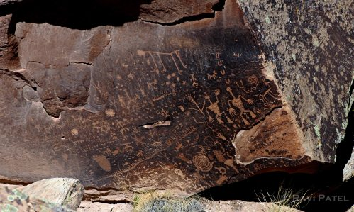 Arizona - Newspaper Rock Historical Images