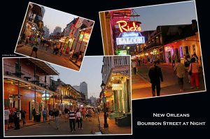 Louisiana - New Orleans Bourbon Street at Night