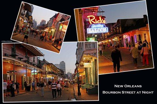 Louisiana - New Orleans Bourbon Street at Night