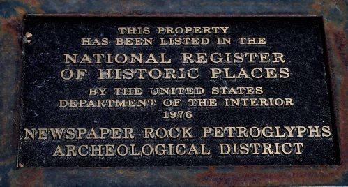 Newspaper Rock Marker