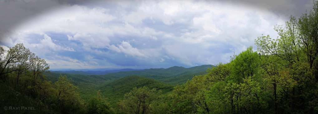 Blue Ridge Parkway NC Panorama