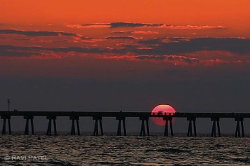 Florida - Panama City Beach - Bisected Sunset