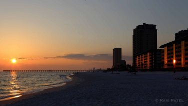 Florida - Panama City Beach Reflected Sunset