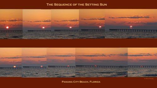 Florida - Panama City Beach - Sequence of the Setting Sun