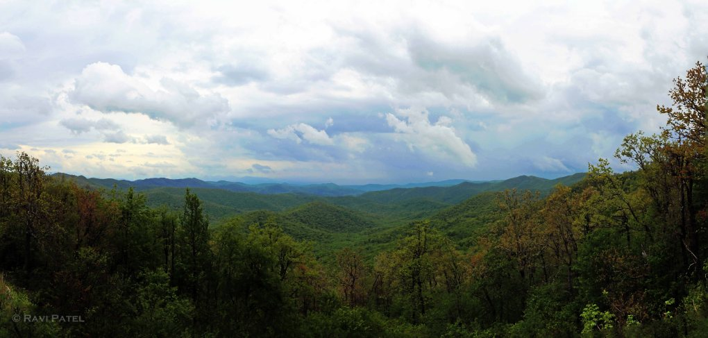 Blue Ridge Parkway NC Cloudy Skies