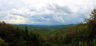 Blue Ridge Parkway NC Cloudy Skies