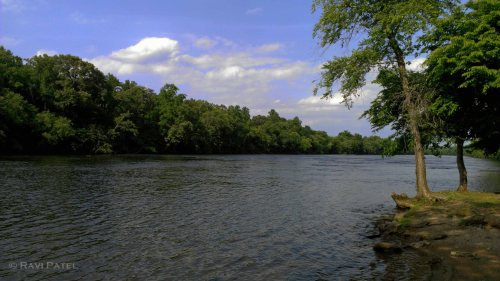Flowing Catawba River