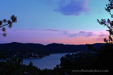 Early Morning Glow over Lake Arrowhead