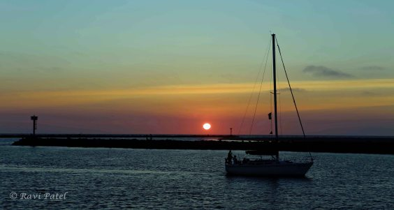 Sailing Home at Sunset