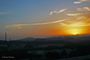 Sunset at Magic Mountain