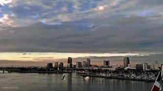 Sunset over Long Beach, CA