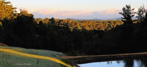 Blue Ridge Mountains From a Golf Course