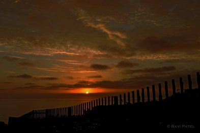 Sunset Across the Fence