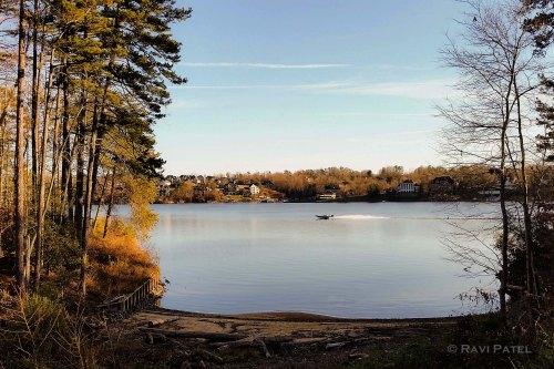 Boating on Lake Hickory