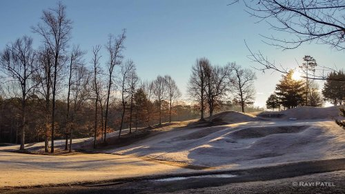 Early Morning Frost on the Green