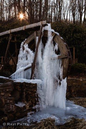 A Frozen Water Wheel