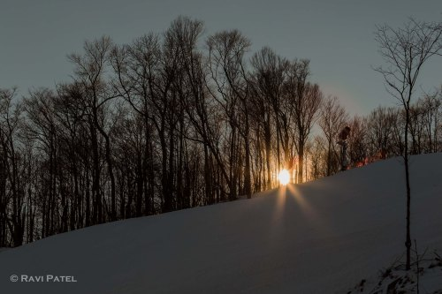 Sunset on a Ski Slope