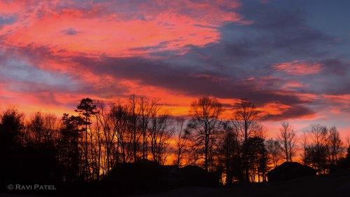 A Brilliant Colorful Evening Sky