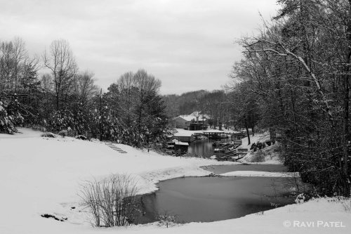 A Snow Scene in B&W