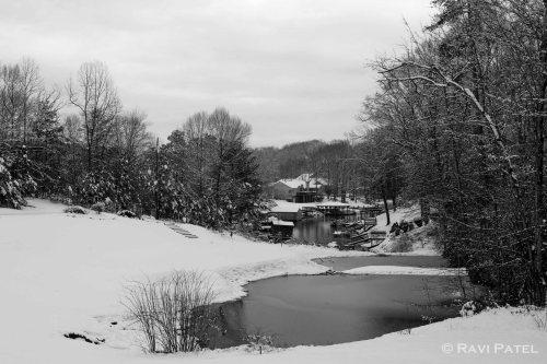 A Snow Scene in B&W