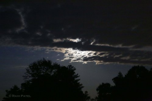 Moon Behind Clouds