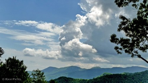 Threatening Clouds over the Mountains