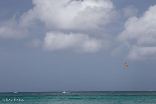 Parasailing at the Grand Cayman Islands