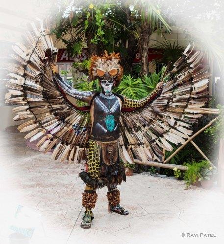 A Mayan Warrior in Full Dress