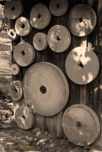 Old Grinding Wheels