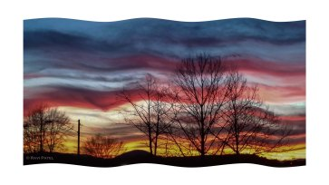 Sunset in Hickory as a Flag