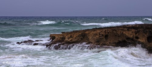 Waves Washing the Coral Rocks