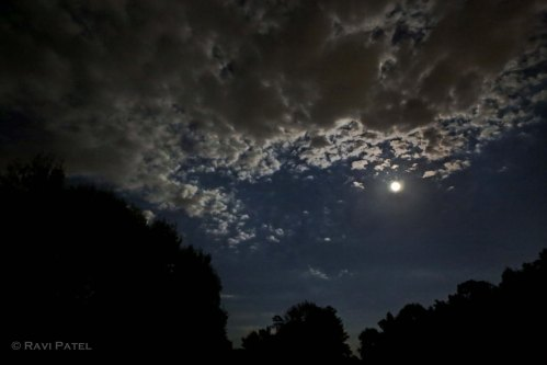 Blue Moon Lighted Clouds