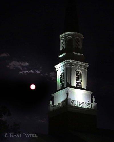 Full Moon Rising at a Hickory Church