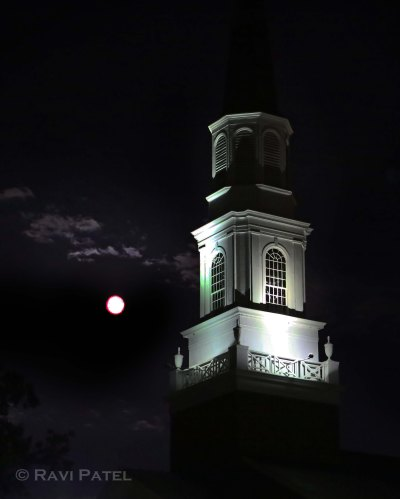 Full Moon Rising at a Hickory Church