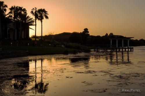 Shadows and Reflections at Sunset