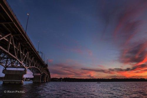 Sunset Glow on the Bridge